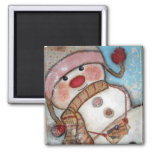 Believe in Snowmen Refrigerator Magnet