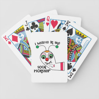 Believe In Sock Monster Bicycle Playing Cards