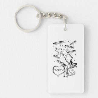 Believe in the Bacon Fairy Keychain