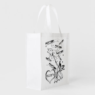 Believe in the Bacon Fairy Reusable Grocery Bag