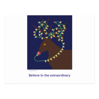 believe in the extraordinary postcard