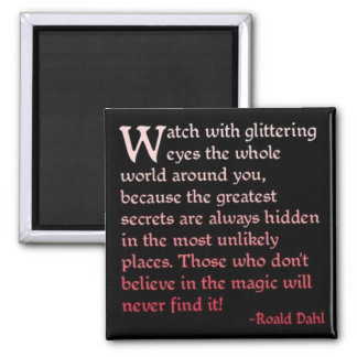 Believe in the Magic 2 Inch Square Magnet