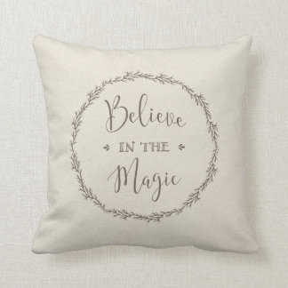 believe in the magic Christmas pillow