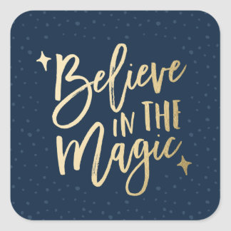 Believe In The Magic | Holiday Stickers in Navy