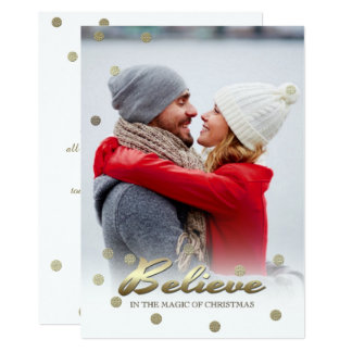 Believe in the Magic of Christmas. Flat Photo Card