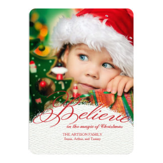 Believe In The Magic Of Christmas Photo Card