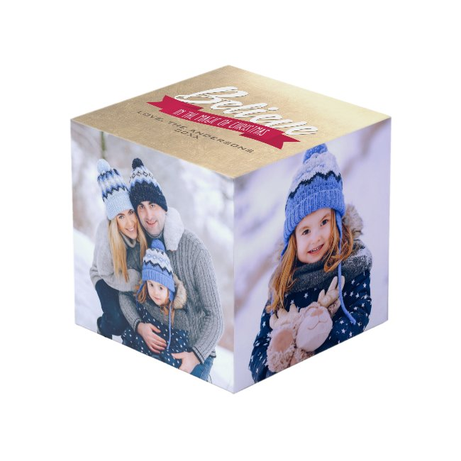Believe in the Magic of Christmas Photo Cube