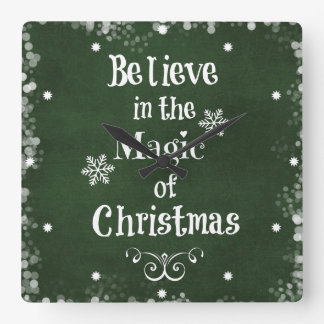 Believe in the magic of Christmas Quote Wallclocks