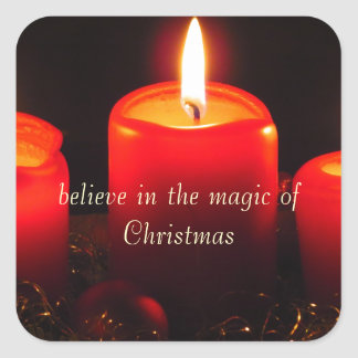 Believe in the Magic of Christmas Square Sticker