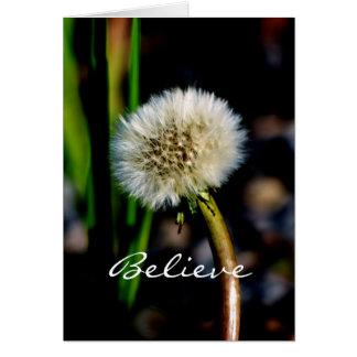 Believe in the Magic of the Season, Dandelion Card