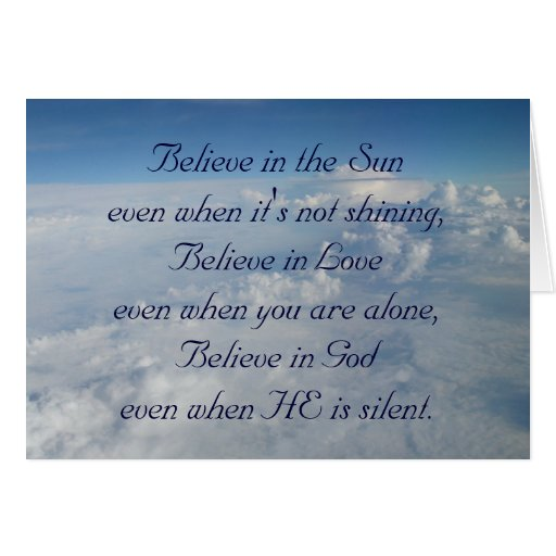 Believe in the Sun Greeting Card