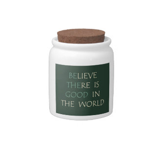 Believe in the World Candy Jar