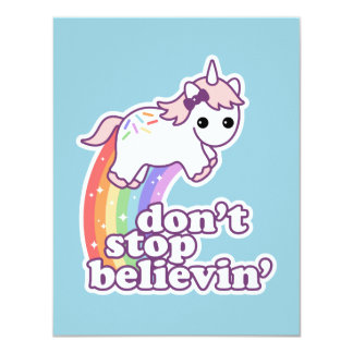 Believe in Unicorns Birthday Card