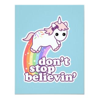 Believe in Unicorns Birthday Party Invitations