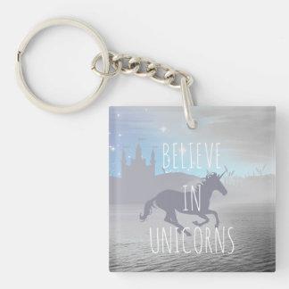 Believe in Unicorns Keychain