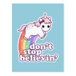 Believe in Unicorns Postcard