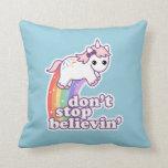 Believe in Unicorns Throw Pillow