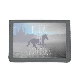 Believe in Unicorns Tri-fold Wallets