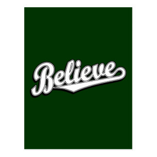 Believe in White Deluxe Postcard