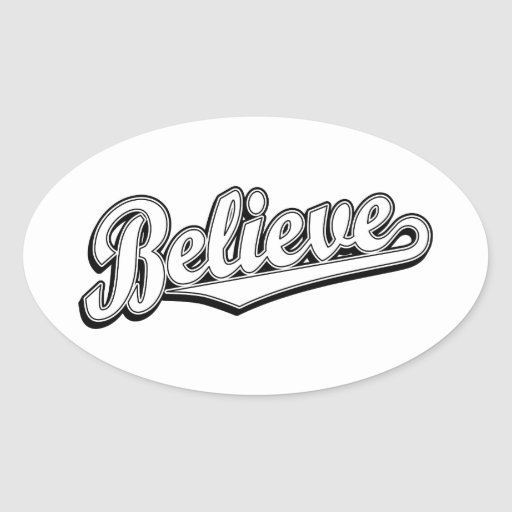 Believe in White Deluxe Stickers