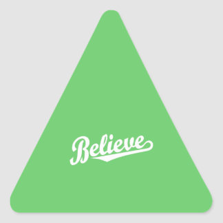 Believe in White Triangle Sticker
