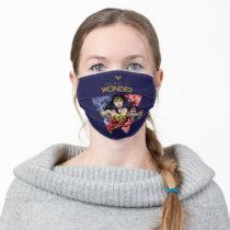 """Believe In Wonder"" Wonder Woman Lasso Comic Logo Adult Cloth Face Mask"