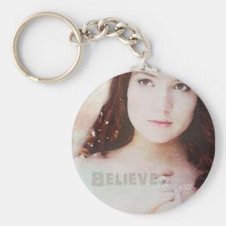 Believe in You Basic Round Button Keychain