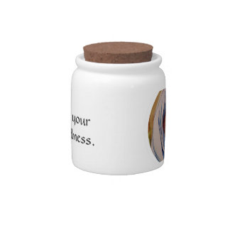 Believe in your basic goodness candy jar