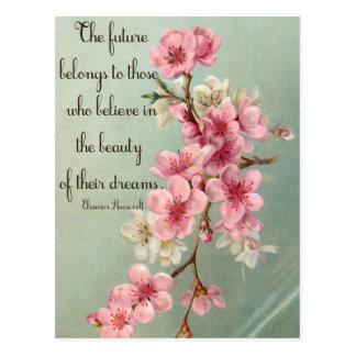 Believe in your Dreams Eleanor Roosevelt Postcard