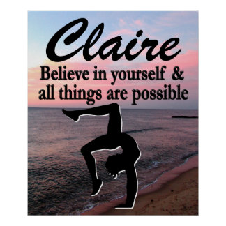 BELIEVE IN YOUR DREAMS PERSONALIZED GYMNAST POSTER