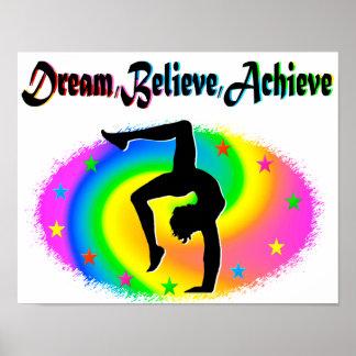 BELIEVE IN YOUR GYMNASTICS DREAMS POSTER