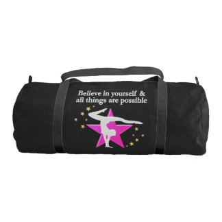 BELIEVE IN YOUR GYMNASTICS GOALS AND DREAMS DUFFLE BAG