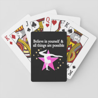 BELIEVE IN YOUR GYMNASTICS GOALS AND DREAMS POKER CARDS