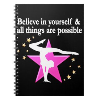 BELIEVE IN YOUR GYMNASTICS GOALS AND DREAMS SPIRAL NOTEBOOK