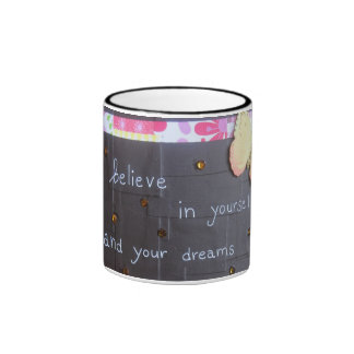 Believe in Yourself and Your Dreams/Darker Cup Coffee Mug