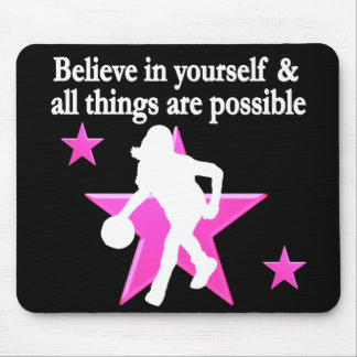 BELIEVE IN YOURSELF BASKETBALL STAR MOUSE PAD
