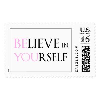 Believe in Yourself - be You motivation quote meme Postage Stamps