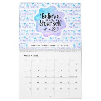 Believe in Yourself Calendar