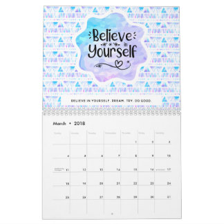 Believe in Yourself Calendar