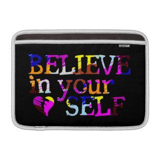 Believe In Yourself custom iPad / laptop sleeve Sleeves For MacBook Air