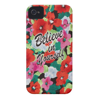 Believe in yourself floral art. iPhone 4 Case-Mate case