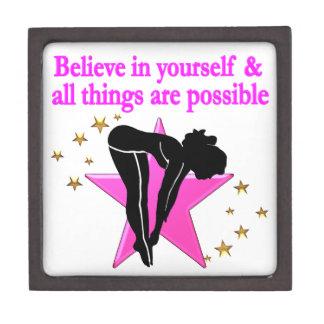 BELIEVE IN YOURSELF GIRLS DIVER DESIGN KEEPSAKE BOX