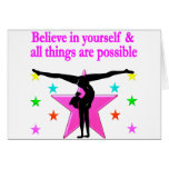 BELIEVE IN YOURSELF GYMNASTICS STATIONERY NOTE CARD