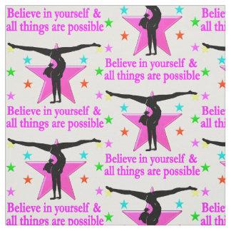 BELIEVE IN YOURSELF GYMNASTICS FABRIC