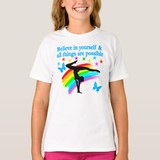 BELIEVE IN YOURSELF GYMNASTICS QUOTE T-Shirt