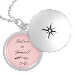 Believe in Yourself Locket Necklace