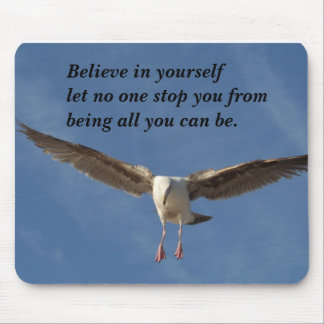 Believe In Yourself_ Mousepad_by Elenne Boothe Mouse Pad