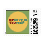 Believe in yourself postage stamps