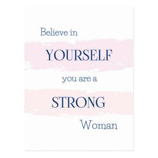 Believe in Yourself Postcard/Encouragement for Her Postcard