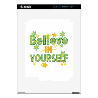 Believe In Yourself iPad 3 Decal